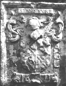 Anderson armorial stone from 1671