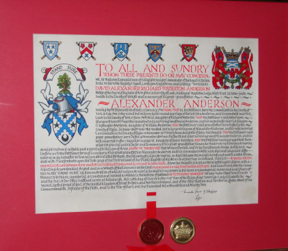 Anderson Letters Patent from Lyon Court